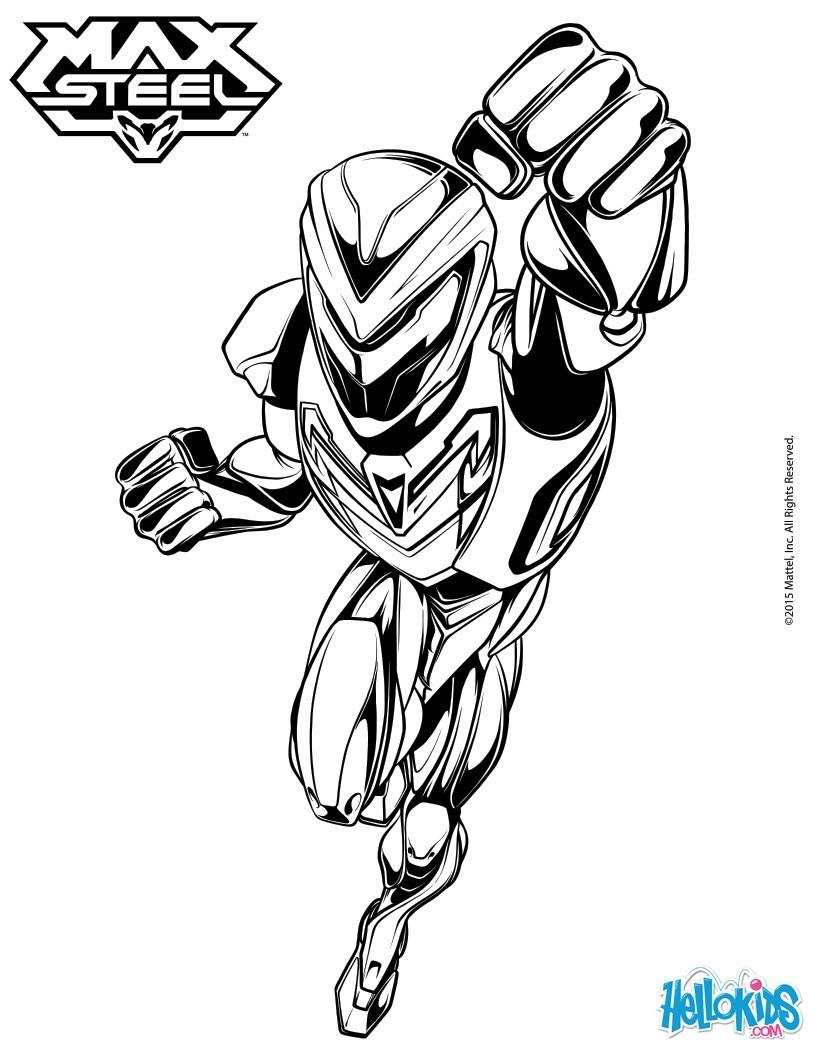 Desenhos Para Colorir De Max Steel No Modo Turbo Pt Hellokids Com