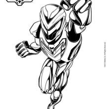 Max Steel na armadura completa