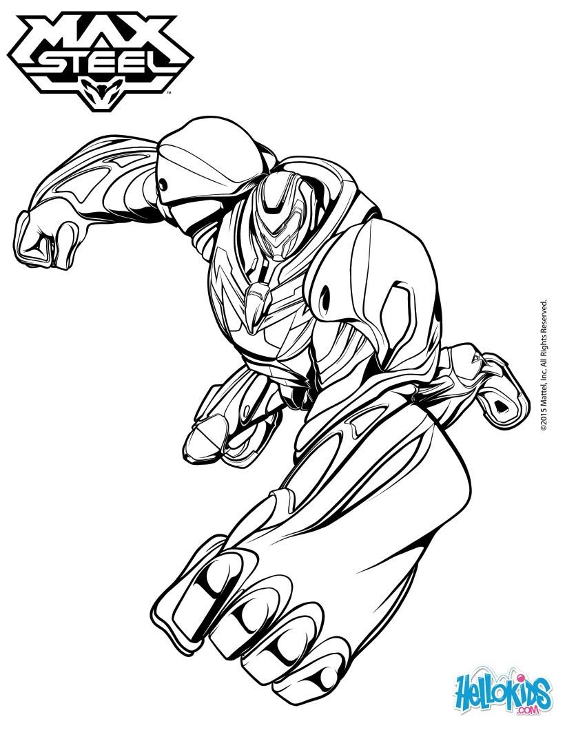 Hulk Bilder Zum Ausmalen: Desenhos Para Colorir De Max Steel No Modo Turbo -pt