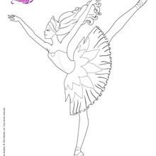 Prima ballerina para colorir