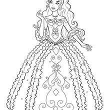 Renée coloração em seu vestido bonito