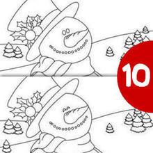 Jogo dos 10 erros : BONECO DE NEVE