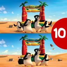 Jogos das diferenças: Os Pinguins de Madagascar
