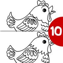 Encontre os 10 erros : GALINHA