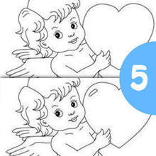 Jogo dos 5 erros : UM CUPIDO COM UM CORAÇÃO