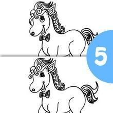 Jogo dos 5 erros : CAVALO