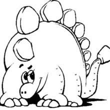 Desenho de um Estegossauro divertido para colorir