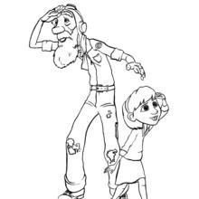 O avô e neta