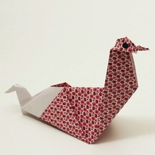 O frango origami