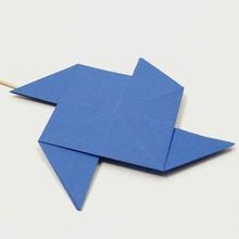 O moinho de vento origami