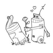 Robot mantém