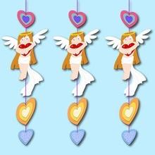 Anjos & corações corda decoração