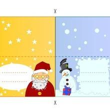 Boneco de neve & Papai Noel
