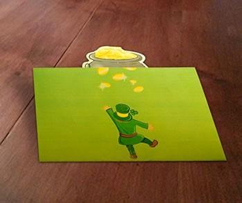 Cartão Ouro do potenciômetro O Pop-Up