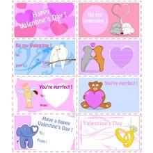 Cartões de Tag do Valentim