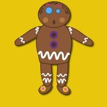 Gingerbread Man boneca