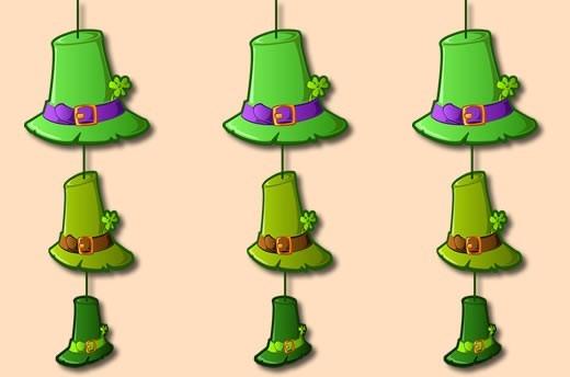 Leprechaun Chapéus cordas decorações