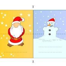 Santa & boneco de neve
