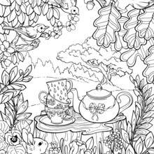 Desenhos Para Colorir De Mandala Jardim Secreto Pt Hellokids Com