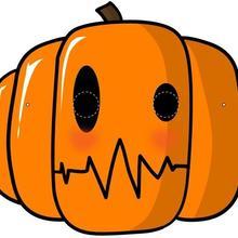 Máscara de uma Abóbora para o Dia das Bruxas