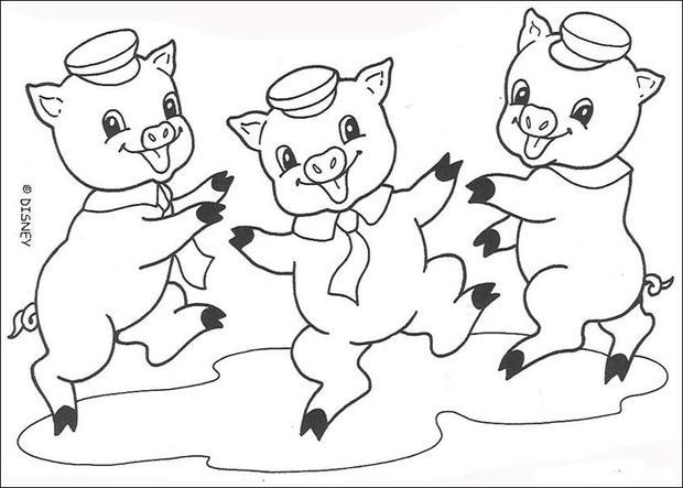 Desenhos Para Colorir De O Lobo Mau Soprando Forte Pt Hellokids Com