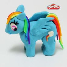 Rainbow Dash em plasticina