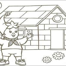 Colorindo a linda casa de Noddy