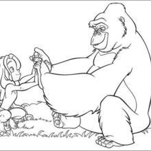 Tarzan e um macaco