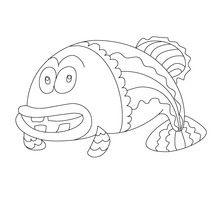 Desenho de um peixe louco para colorir
