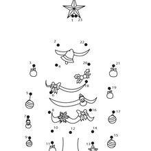 Jogo de ligar os pontos - Árvore de Natal