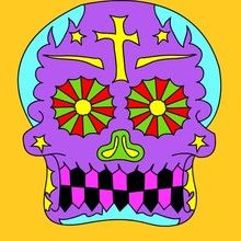 Dia das Bruxas, Desenhos do DIA DOS MORTOS NO MEXICO para colorir