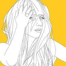 Páginas para colorir LADY GAGA