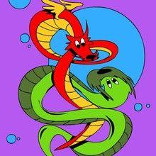 Desenhos do ANO NOVO CHINÊS para colorir