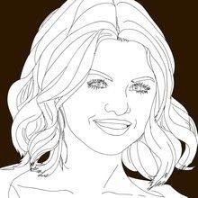 Desenhos da SELENA GOMEZ para colorir