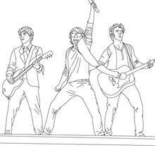 Desenhos dos JONAS BROTHERS para colorir