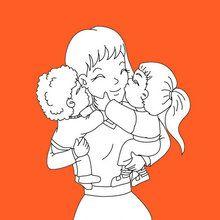 Dia das mães, Páginas para colorir DIA DAS MÃES