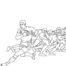 Desenho de um SCRUM DE RUGBY para colorir