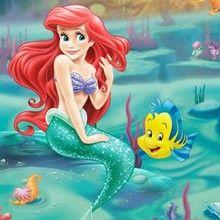 princesa, Páginas para colorir a Pequena Sereia