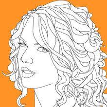 Desenhos da TAYLOR SWIFT  para colorir