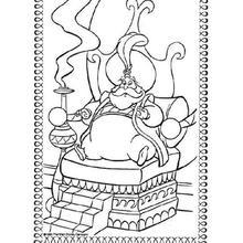 Desenho do Sultão de Agrabah para colorir