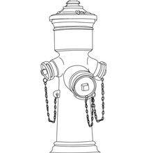 Desenho para colorir de um hidrante para a extinção de incêndios