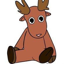 animal, Desenhos das RENAS DO PAPAI NOEL para colorir
