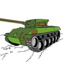 Desenhos de veículos MILITARES para colorir