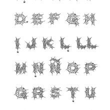 Letras do alfabeto de aranha para colorir