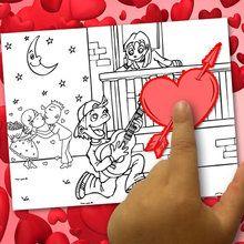 Criar um Valentine colorir