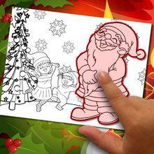 Fazendo uma coloração Natal