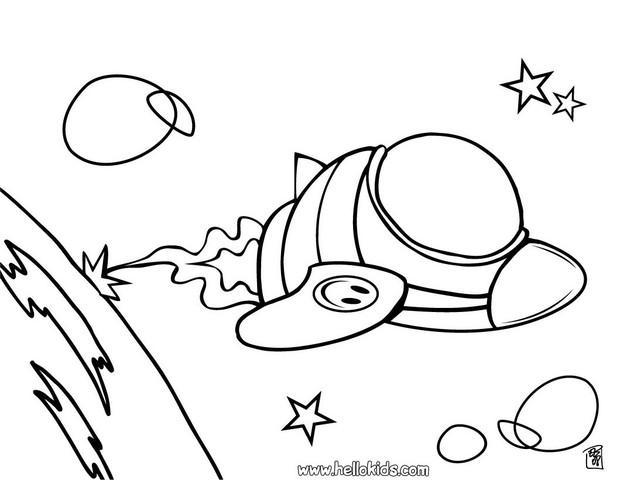 Astronave para colorir