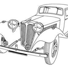 Carro antigo para colorir