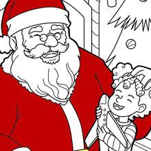 Santa está tendo um riso