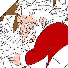 Desenho do Papai Noel dormindo para colorir online